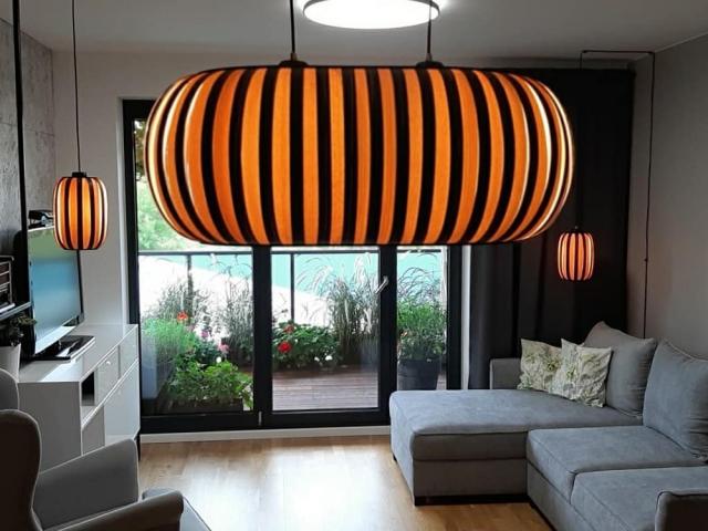 Lampa z drewna Elegant